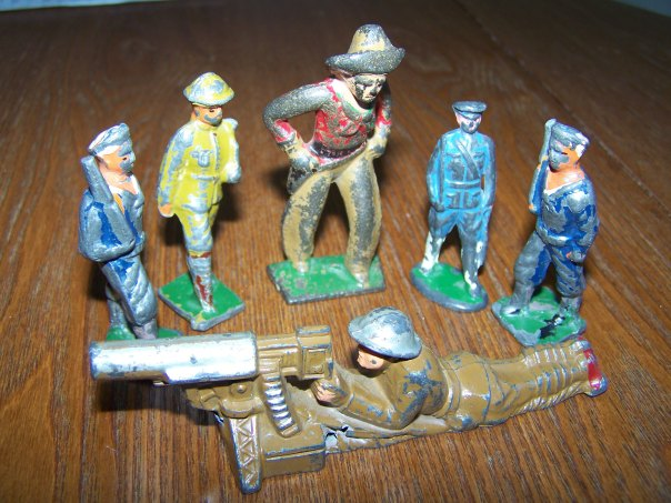 A Diverse Group of Collectible Metal Soldiers